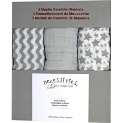 Tendertyme Baby Boys and Girls 3 Piece Swaddle Blankets
