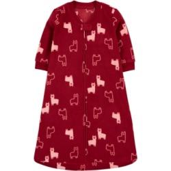Carter's Baby Girls Llama-Print Fleece Sleep Bag