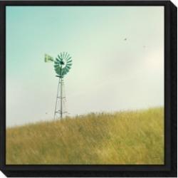 Amanti Art Farm Morning Iv Square Windmill by Sue Schlabach Canvas Framed Art