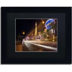 "David Ayash 'Las Vegas Blvd.' Matted Framed Art - 14"" x 11"""