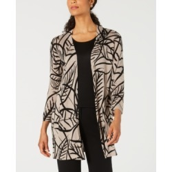 Kasper Printed Open-Front Duster Cardigan found on MODAPINS from Macy's for USD $89.00