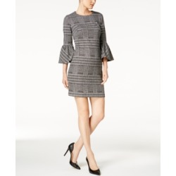 4001ff29 Calvin Klein Plaid Ponte-Knit Bell-Sleeve Dress found on MODAPINS from  Macy's for
