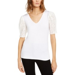 Inc Petite Eyelet-Puff-Sleeve Top, Created For Macy's found on Bargain Bro Philippines from Macy's Australia for $44.66