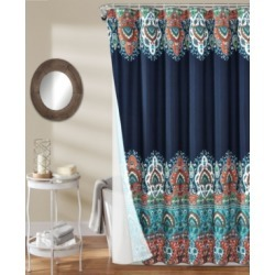 Bohemian Meadow 14Pc Shower Curtain Set Bedding found on Bargain Bro from Macy's for USD $115.52