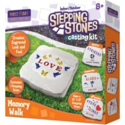 Perfect Craft Indoor Outdoor Stepping Stones Memory Walk Casting Kit