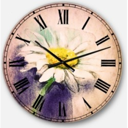 Designart Flower Oversized Round Metal Wall Clock found on Bargain Bro Philippines from Macy's Australia for $212.05
