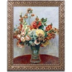 Pierre Auguste Renoir 'Flowers in a Vase 1898' Ornate Framed Art - 14