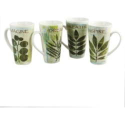 Nature Pressed 16 Ounce Cone Shape Mug - Set of 4 found on Bargain Bro India from Macy's for $27.99
