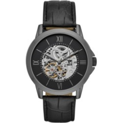 Folio Mens Black Strap Automatic Watch 44mm