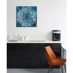 "iCanvas ""Mandala in Blue Ii"" by Danhui Nai Gallery-Wrapped Canvas Print (26 x 26 x 0.75)"