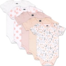 The Peanutshell Baby Girls Flowers Stars 5 Pack Short Sleeve Bodysuits found on Bargain Bro India from Macy's for $27.99