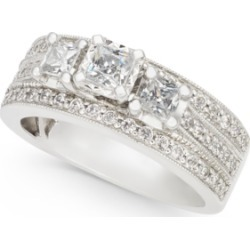Diamond Princess Three-Stone Ring (1 ct. t.w.) in 14k White Gold found on Bargain Bro India from Macy's for $2785.05