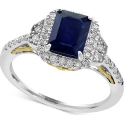 Royale Bleu by Effy Sapphire (1-1/2 ct. t.w.) and Diamond (3/8 ct. t.w.) Ring in 14k Gold, Created for Macy's and White Gold, Created for Macy's