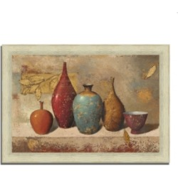 Tangletown Fine Art Leaves and Vessels by James Wiens Framed Painting Print, 42