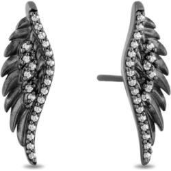 Enchanted Disney Diamond Maleficent Wing Stud Earrings (1/6 ct. t.w.) in Sterling Silver found on Bargain Bro India from Macy's for $385.00