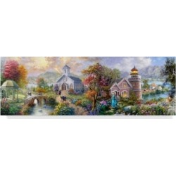 """Nicky Boehme 'Sunday Morning In Spring' Canvas Art - 19"""" x 6"""""""