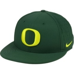 Nike Oregon Ducks Aerobill True Fitted Baseball Cap found on Bargain Bro India from Macy's for $35.00