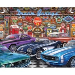 Springbok Puzzles Dream Garage 1000 Piece Jigsaw Puzzle