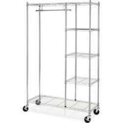 Whitmor Rolling Garment Rack with Shelves