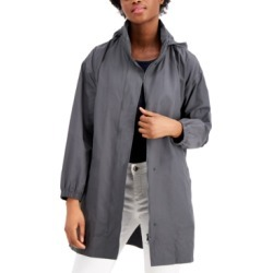 Eileen Fisher Organic Stand-Collar Hooded Zip-Front Coat found on MODAPINS from Macy's for USD $298.00
