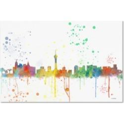 "Marlene Watson 'Las Vegas Nevada Skyline Mclr-1' Canvas Art - 22"" x 32"""