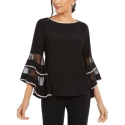 Msk Illusion Rhinestone Bell-Sleeve Top found on Bargain Bro India from Macy's Australia for $74.47