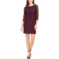 Jessica Howard Petite Sequined-Lace Dress
