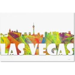 "Marlene Watson 'Las Vegas Nevada Skyline Mclr-2' Canvas Art - 22"" x 32"""