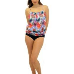 Fit 4 U Blade Mesh Blouson Top Women's Swimsuit