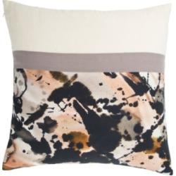 "Luli Sanchez By Jaipur Living Arden Black/ Cream Abstract Down Throw Pillow 20"""