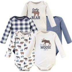 Hudson Baby Boys and Girls Moose Bear Long-Sleeve Bodysuits, Pack of 5 found on Bargain Bro India from Macy's for $20.99
