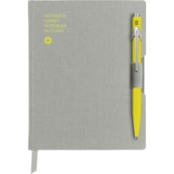 Caran D'Ache A6 Gray Notebook with Yellow 849 Ballpoint Pen found on Bargain Bro Philippines from Macy's Australia for $57.23
