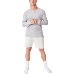 Men's Henley Waffle Long Sleeve T-shirt found on MODAPINS from Macy's for USD $34.99