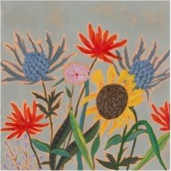 """Victoria Borges Thistle Bouquet Ii Canvas Art - 20"""" x 25"""""""