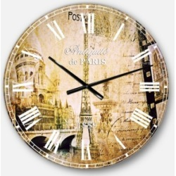 Designart Vintage Oversized Round Metal Wall Clock found on Bargain Bro Philippines from Macy's Australia for $149.26