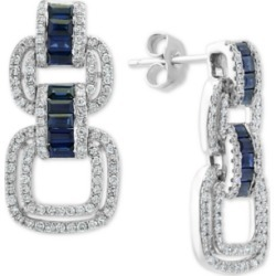 Effy Sapphire (7/8 ct. t.w.) & Diamond (3/4 ct. t.w.) Drop Earrings in 14k White Gold found on Bargain Bro India from Macys CA for $4017.53