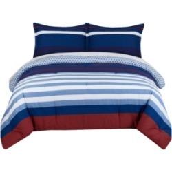 Nautical Stripe Twin Comforter Set Bedding