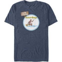 Curious George Men's George Gone Fishing Short Sleeve T-Shirt found on MODAPINS from Macy's for USD $24.99