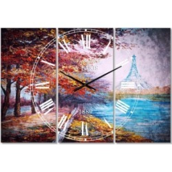 Designart French Country 3 Panels Metal Wall Clock found on Bargain Bro Philippines from Macy's Australia for $265.06