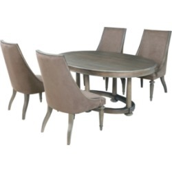 Classic Living 5pc Dining Set (Table & 4 Side Chairs), Created for Macy's found on Bargain Bro from Macy's for USD $2,861.40