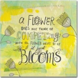Elizabeth Caldwell 'Blooms Quote' Canvas Art - 14