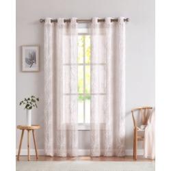 "Dainty Home Stella Linen Look 76"" x 96"" Grommet Panel, Set of 2"