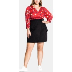 City Chic Trendy Plus Size Cotton Wrap Skirt found on MODAPINS from Macys CA for USD $78.37