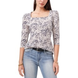 Vince Camuto Snake-Print 3/4-Sleeve Top found on Bargain Bro from Macy's for USD $44.84