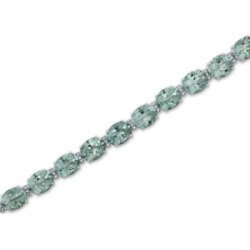 Green Quartz (32 ct. t.w.) & White Topaz (1/2 ct. t.w.) Bracelet in Sterling Silver found on Bargain Bro India from Macys CA for $345.32