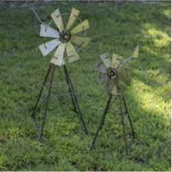Vip Home & Garden 2-Piece Metal Windmills