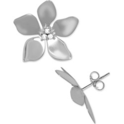 Essentials Crystal Flower Stud Fine Silver Plate Earrings found on Bargain Bro Philippines from Macy's for $20.00