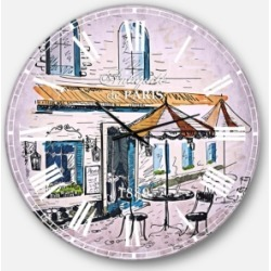 Designart Watercolor Painting Oversized Round Metal Wall Clock found on Bargain Bro Philippines from Macy's Australia for $211.11