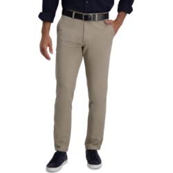 Haggar Men's Slim-Fit Motion Khaki Straight Flex Waistband Casual Pants found on MODAPINS from Macy's Australia for USD $35.23
