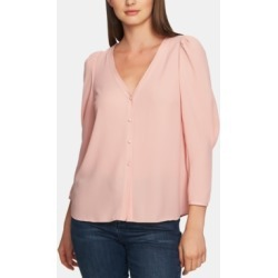 1.state Puff-Sleeve V-Neck Button-Up Top found on MODAPINS from Macy's for USD $53.40
